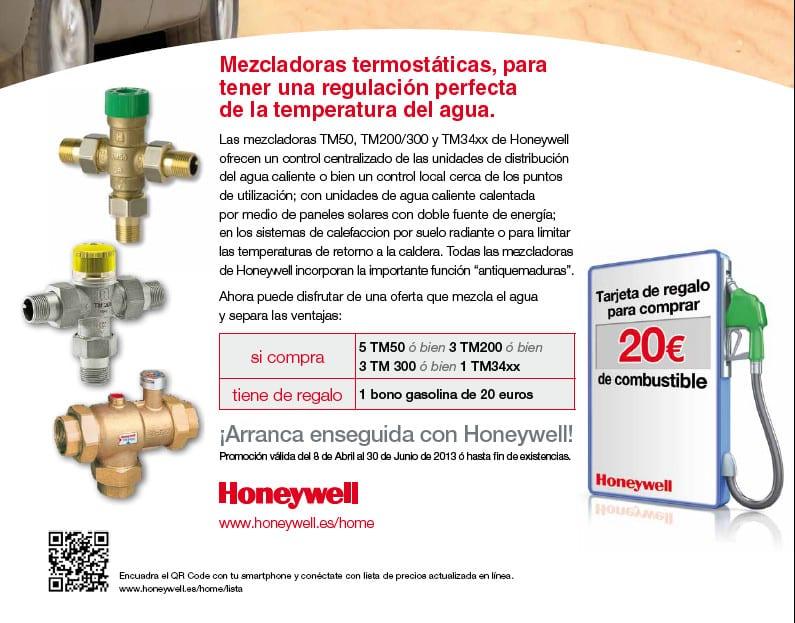 Mezcladoras termostaticsa Honeywell