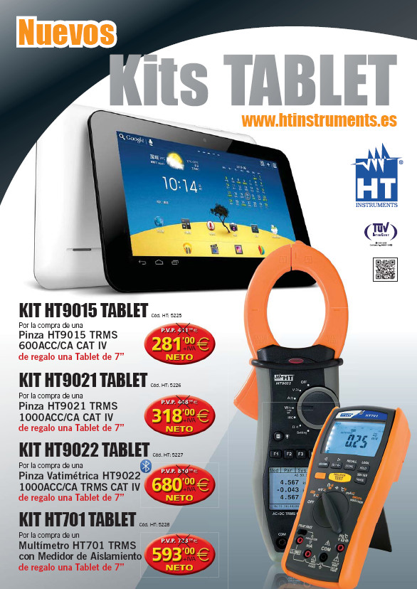 Promocion Ht tablet + pinza